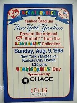 Retired Stretch The Ostrich Ty Beanie Baby New York Yankees Stadium