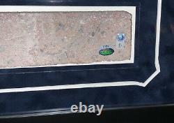 Roger Maris New York Yankees Stadium Brick Framed Monument Park Steiner Mlb Coa
