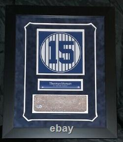 Thurman Munson New York Yankees Stadium Brick Framed Monument Park Steiner Mlb