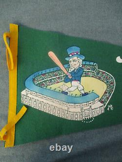 VINTAGE 1950s NEW YORK YANKEES COLORED STADIUM BASEBALL PENNANT with UNCLE SAM