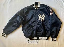 Vintage Felco New York Yankees Size XL Satin & Quilted Stadium Jacket NICE