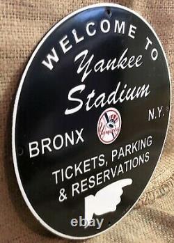 Vintage New York Yankees Stadium Baseball Heavy Porcelain Sign 12