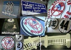 YANKEES 3D Thurman Munson sign art Jersey New York Baseball Stadium
