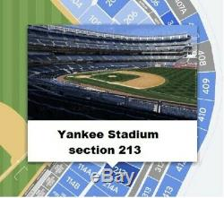 YANKEES vs RED SOX Sunday Aug 04, 2019 Main Level section 213, TWO TICKETS (2)