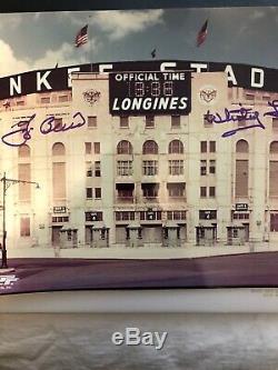 YOGI BERRA AND WHITEY FORD SIGNED OLD YANKEE STADIUM 8x10 PHOTO NEW YORK YANKEES