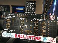 Yankee Stadium Scoreboard Vintage 1950's New York Yankees Larsen Mickey Mantle