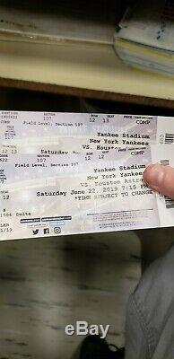 Yankee vs Astros tickets, Yankee stadium Saturday June 22nd at 715 PM